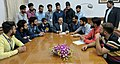 A delegation of students from Jammu and Kashmir holding a meeting with the Minister of State for Development of North Eastern Region (IC), Prime Minister's Office, Personnel, Public Grievances & Pensions.jpg