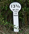 A mile marker along the Grantham Canal - geograph.org.uk - 944723.jpg