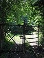 A padlocked gate - geograph.org.uk - 895806.jpg