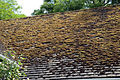 A roof with moss Gibberd Garden Essex England.JPG