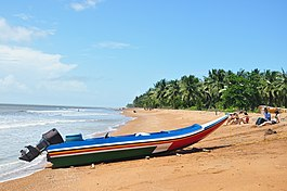 A speed boat on the Shell Beach - panoramio.jpg