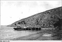 Althorpe Island-Maritime Heritage-A steamship at the Althorpe Island jetty 1905