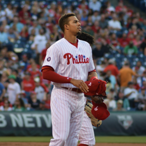 Aaron Altherr - Altherr with the Phillies in 2017