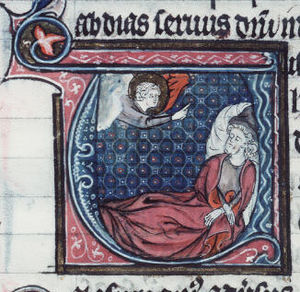 Obadiah - God appearing to Obadiah in his dream (France, 13th century).