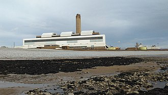 "Aberthaw power stations - Aberthaw ""B"" Power Station from the foreshore"