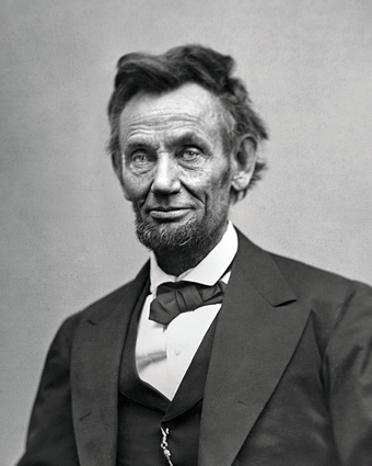Lincoln in February 1865, two months before his death Abraham Lincoln O-116 by Gardner, 1865-crop.png