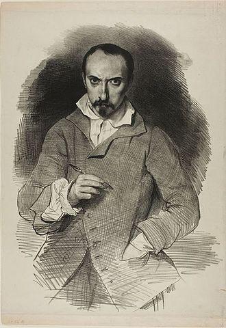 Achille Devéria - Achille Devéria self-portrait, c. 1835.