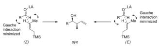 Lewis acid catalysis - Open transition state model for Sakurai reaction