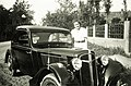 Adler-brand, automobile, portrait, lady, summer dresses, necklace Fortepan 85386.jpg