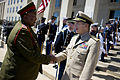 Adm. Mike Mullen, chairman of the Joint Chiefs of Staff welcomes Gen. Godfrey Nhlanhla Ngwenya 100520-N-0696M-027.jpg