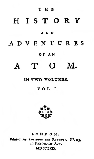 The History and Adventures of an Atom - First edition title page
