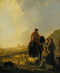 A Shepherd with His Flock