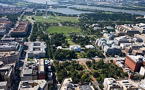 President's Park - Image: Aerial view of Lafayette Park