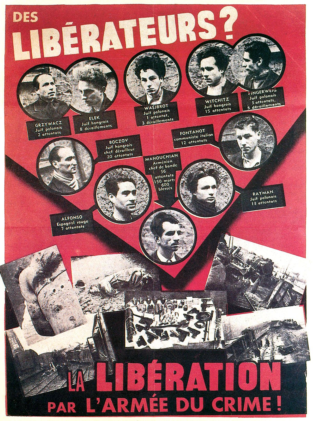Affiche rouge wikip dia - Front de liberation des nains de jardin ...