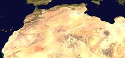 Africa (satellite image) (cropped) Magreb.jpg
