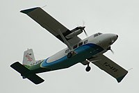 Air Vanuatu (YJ-AV5) Harbin Y-12 IV departs Bauerfield International Airport in Port Vila.jpg