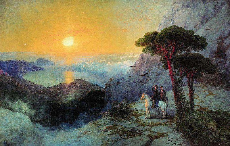 Файл: Айвазовский - Пушкин на пике Ай-Петри во время sunrise.jpg