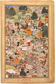 Akbarnama - Battle at Thaneshwar - right folio.jpg