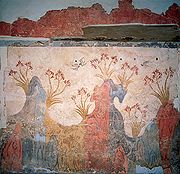 Landscape of spring time - Fresco from the Bronze Age, Akrotiri