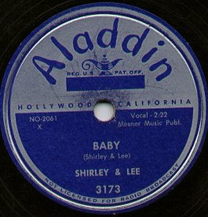 Aladdin Records - 1952 Aladdin record