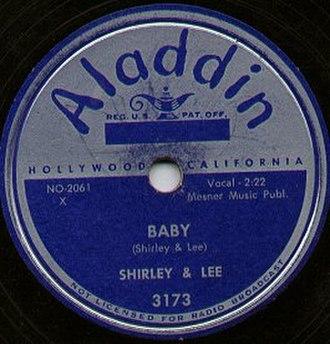 Aladdin Records - 1952 Aladdin record