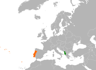 Diplomatic relations between the Republic of Albania and the Portuguese Republic