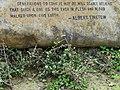 Albert Einstein Tribute to Mahatma Gandhi - Gandhi Smriti - New Delhi - India (12771838503).jpg