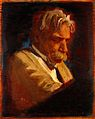 Albert Schweitzer. Oil painting by Helen Kiddell. Wellcome L0031889.jpg