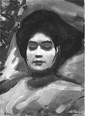 Irene von Keller auf dem Totenbett