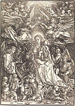 Albrecht Dürer, The Virgin Surrounded by Many Angels, 1518, NGA 6802.jpg