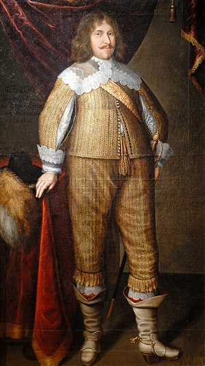Albert II, Margrave of Brandenburg-Ansbach - Albert in a painting by Benjamin Block, 1643