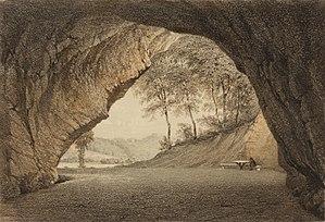 Gutmanis Cave - Image: Album von Dorpat, TKM 0031H 23, crop