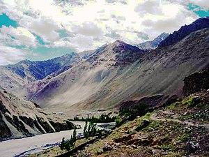 Alchi - The Indus river valley at Alchi
