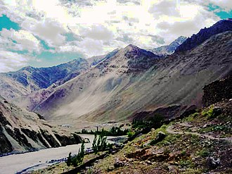 Alchi - The Indus river valley at Alchi