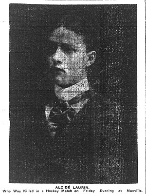 Alcide Laurin - Laurin pictured in the Ottawa Journal on February 27, 1905