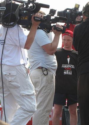 Siberian International Marathon - Aleksei Tishchenko promoting the 2010 Siberian International Marathon