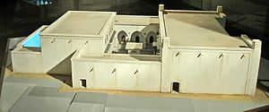 Central Synagogue of Aleppo - Model of the synagogue - side view