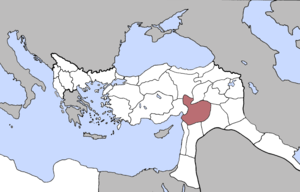 Location of Aleppo Vilayet