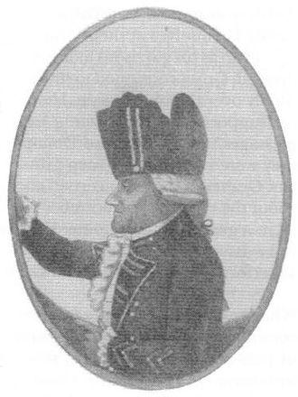 Alexander Leslie (British Army officer) - A caricature of Alexander Leslie