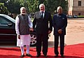 Alexander Lukashenko being received by the President, Shri Ram Nath Kovind and the Prime Minister, Shri Narendra Modi, at the Ceremonial Reception, at Rashtrapati Bhavan, in New Delhi (1).jpg