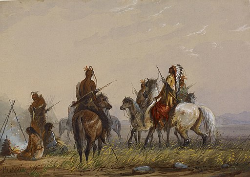 Alfred Jacob Miller - Expedition to Capture Wild Horses -Sioux - Walters 371940169