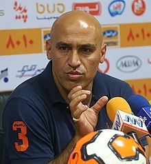 Alireza Mansourian - Persepolis vs. Naft Tehran press conference 2014-08-21.jpg