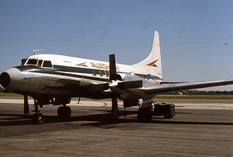 Allegheny Airlines - Allegheny had 41 Convair 580 in 1975