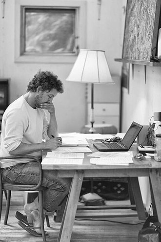 Allen Salkin - Allen Salkin at his writing desk, 2012