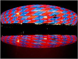 Allianz Arena lit up