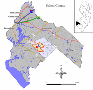 Alloway (CDP), New Jersey Census-designated place in New Jersey, United States