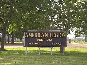 El Campo, Texas - The American Legion Hall in El Campo