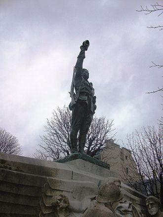 Alan Seeger - Memorial to American Volunteers (Place des États-Unis, Paris)