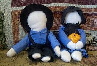 Rag doll - Faceless Amish dolls