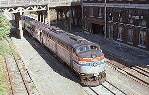 Mattoon, Illinois - Amtrak Shawnee at Mattoon station, 1976